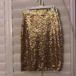 Gold sparkle skirt (with slip)